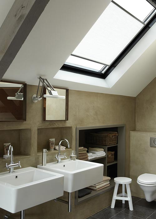 Skylight velux blinds colchester sudbury braintree for Blinds for velux skylights